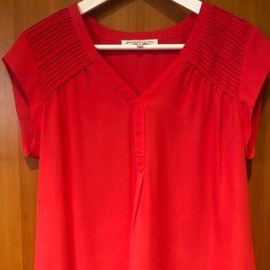 Daniel Rainn pink sheer blouse